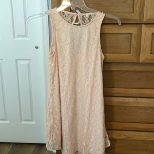 Brand NWT Pastel Pink Lace Dress